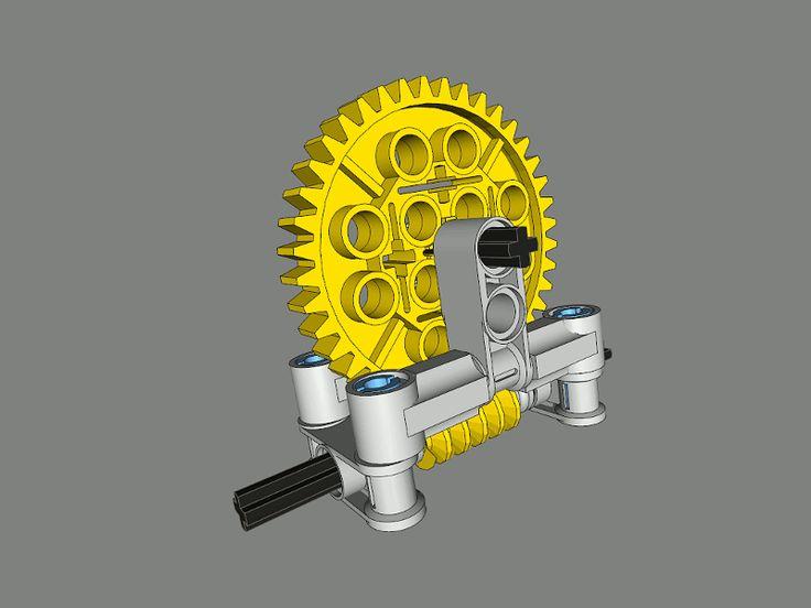 Worm Gear Casings | Engrenages Lego, Lego Nxt, Lego tout Engrenage Lego